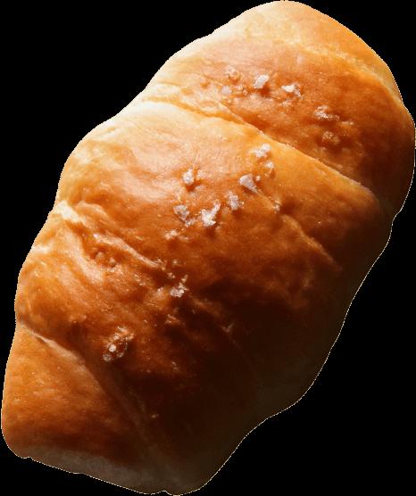 沖縄県糸満産粗塩、高千穂産の有塩バターを使用。塩とバターが香る、ふわふわ塩パン